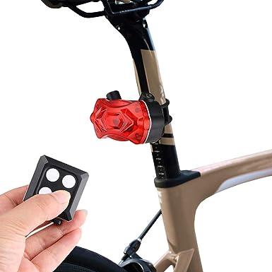Lomsarsh Bicicleta trasera LED Luz trasera Luz USB inalámbrica ...