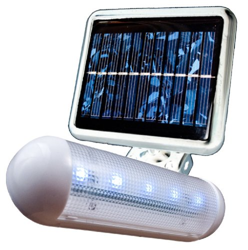 MAXSA Innovations 40440 White Solar-Powered LED Shed Light