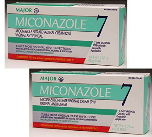 (2 Pack) Miconazole Vaginal Cream Antifungal (Contains 2 Tubes of 1.59oz (45g) Each - 2 Courses of Therapy) (Compare to Active Ingredient of MONISTAT 7 Vaginal Cream)