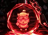 7 Weapons League of Legends/ LOL / Teemo Cryatal 7 Colors Key Chain/ Pendant