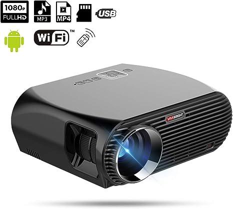 XH Proyector Pantalla de Proyección 1080P Multimedia Picture Video ...