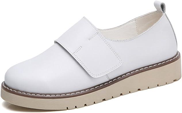 JRenok Chaussures de Ville Femme Confortable Mocassins Cuir ...
