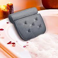 ESSORT Badewannenkissen, 4D-Air-Mesh-Technologie Komfort badewanne kopfkissen mit 5 Saugnäpfen ist weich und atmungsaktiv...