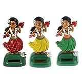 B Blesiya 3Pcs Car Dashboard Solar Nodding Figures Bobblehead Dolls Home Window Décor