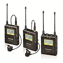 Saramonic UwMic9 96-Channel UHF Wireless Lavalier Microphone System Two Transmitters and One Receiver for DSLR & Camcorder Video