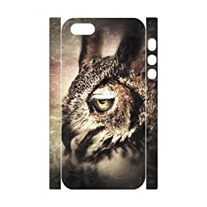 3D IPhone 5,5S Cases Owl Art, Owl [White]