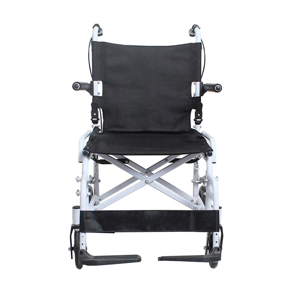 MLX Mini Foldable Wheelchair, Disabled Travel Wheelchair, Alloy Bracket Breathable Cushion, Suitable for Disabled Elderly by MLXCY