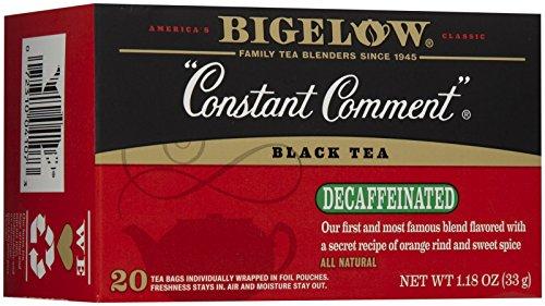Bigelow Tea - Black Tea Constant Comment Decaffeinated - 20 Tea Bags