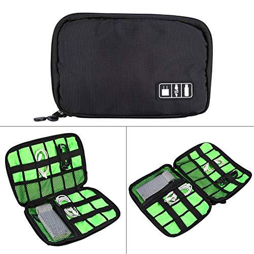 LZSUS Organizer Storage Portable Travel Organizer Storage Collection Bag Case Pouch Digital Gadget Electronic Accessories, Size: 25.718.51.2cm(Black) (Color : Black)