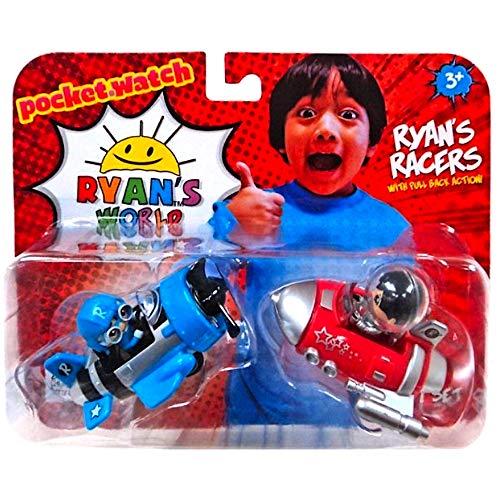 - Ryan's Pull Back Racers Blue Pilot Ryan & Red Rocket Ship Ryan