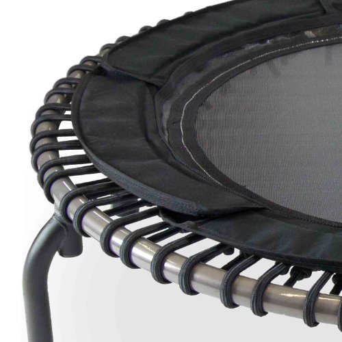 JumpSport Fitness Trampoline Model 370 PRO - Top Rated for Quality and Durability - Quietest Bounce - Included Music 4 Workouts DVD