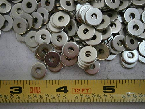 5702-204-60 Flat Washer .125'' ID .375'' OD Steel LOT of - 150#3658 - Quality Assurance from JumpingBolt