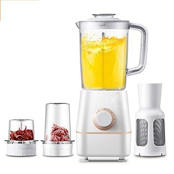 XWH Exprimidor, máquina Multifuncional para cocinar en el hogar, pequeña máquina automática de Leche de SOYA con Jugo de Frutas, batidora eléctrica,Blanco ...