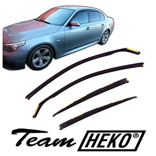 Winddeflectoren voor BMW 5 Série E60 4 deuren Limousine 2004-2010 4 stukken
