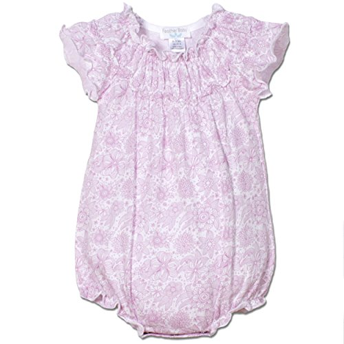Body Old 09 (Feather Baby Girls Clothes Pima Cotton Short Sleeve Ruched Sunsuit Bubble Bodysuit)