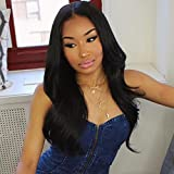 ZigZag Hair 360 Lace Frontal Wig 150% Density Straight Full Lace Band Human Hair Wigs For Black Women Pre Plucked Hairline with Baby Hair (18inch, Straight)