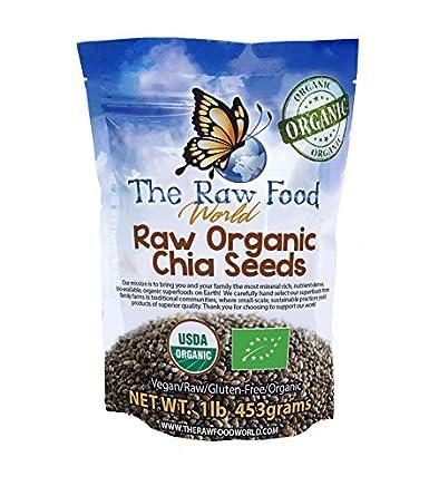 Semillas de chia orgánicas certificadas, 5.6 lbs.: Amazon ...