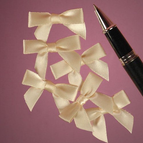 Ivory Satin Bows, 1-3/8'' by Paper Mart