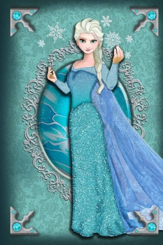 Queen Elsa - Frozen - Disney Fairytale Princess Journal Notebook: Disney Princess Lined Journal A4 Notebook, for school, home, or work, 150 Pages, 6' x 9' (15.24 x 22.86 cm), Durable Soft Cover