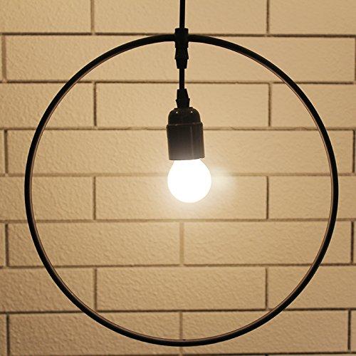 LuckyLibre Creative Moderne Mode Pendentif Luminaires Plafonnier Lustre Chambre Salon Cuisine, Fer - Rond - Diamètre 33Cm