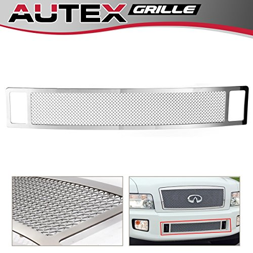 AUTEX Mesh Lower Bumper Grille Replacement Compatible with Infiniti QX56 2004-2010 Grill - Qx56 Mesh