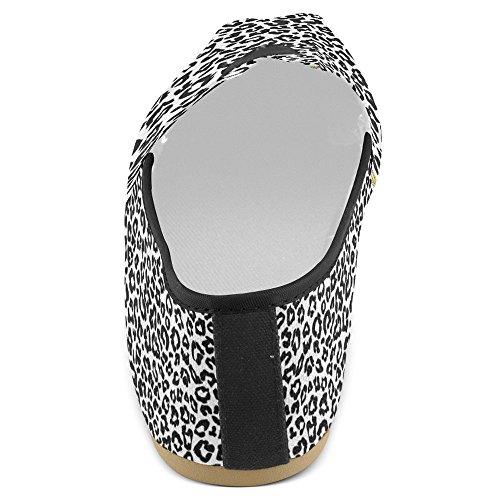 Mocassini Da Donna Di Interestprint Classico Su Tela Casual Slip On Scarpe Moda Scarpe Da Ginnastica Mary Jane Flats Leopard Animal