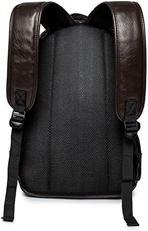 Kenox Vintage PU Leather Backpack School College Bookbag Laptop Computer Backpack – Brown