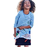 Clearance Sale!OverDose Toddler Kids Baby Girls Cotton Long Sleeve Dress 2018 Birthday Tunic Dress Children Clothes Applique Robe(2T, Blue)