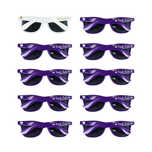 Bridal Shower Favors Bachelorette Party Supplies 10pcs Purple Weddings Sunglasses