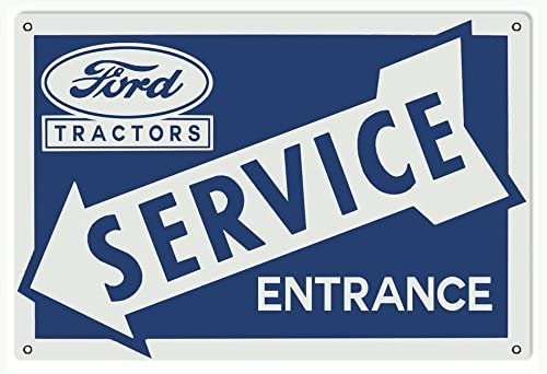 Ford Tractor Service Station Entrance Sign in Blue