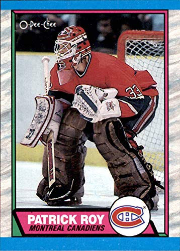 1989-90 O-Pee-Chee #17 Patrick Roy MONTREAL CANADIENS (Box73) Vintage NHL Hockey Card