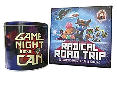 Game Night In a Can & Dr Biscuit's Radical Road Trip Creative Game Bundle for Your Home and Car