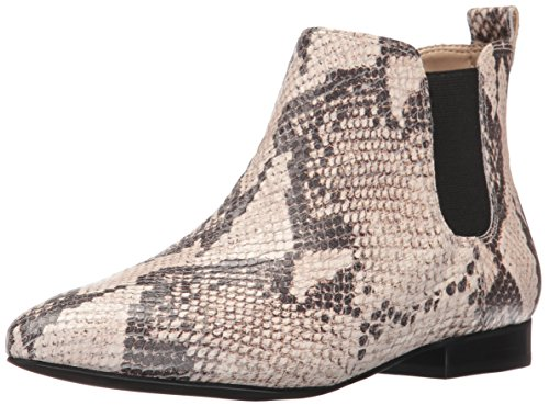 Nine West Women's Holdon Ankle Bootie, Natural/Black, 9 M US (Black And White Booties)