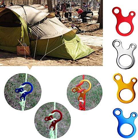Wakauto 8 Pcs en Alliage Daluminium Cordon Tendeur Tente Tendeurs Corde R/égleur pour Tente Randonn/ée Camping