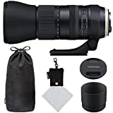 Tamron SP 150-600mm F/5-6.3 Di VC USD G2 for Canon Digital SLR (Model A022) and Polaroid Micro Fiber Cleaning Cloth With Storage Pouch (Certified Refurbished)