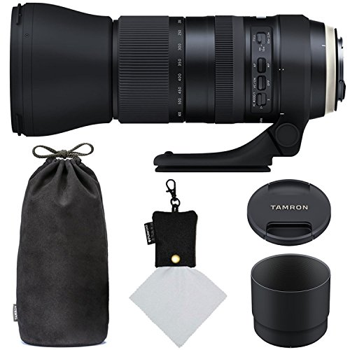 Tamron SP 150-600mm F/5-6.3 Di VC USD G2 for Canon Digital SLR (Model A022) and Polaroid Micro Fiber Cleaning Cloth With Storage Pouch (Certified Refurbished) by Ritz Camera