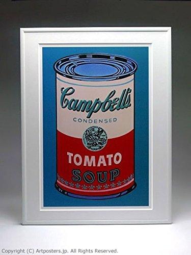 アンディ ウォーホル キャンベルスープ缶 ピンクと赤 額付ポスター ホワイト B005LN5B1Y ホワイト ホワイト