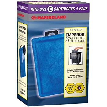 MarineLand Emperor Bio-Wheel Replacement Power Filter Cartridges, 4-Count