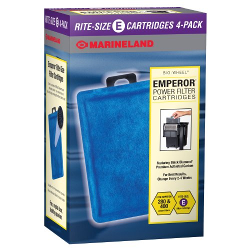 (Marineland PA0137-04 Rite-Size Cartridge E, 4-Pack)
