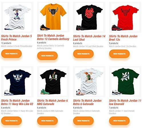 be3c3e1166fd8d Amazon.com  SNELOS Shirt to Match Jordan  Clothing