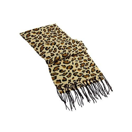 Animal Print Long Fleece Scarf
