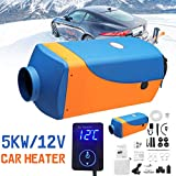 KingSo 12V 5KW Air Diesel Fuel Heater for Trucks Boats Bus Car Motor-Homes (Blue+Orange)