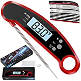 Digital Meat Thermometer- Top Waterproof Instant Read Thermometer with Talking Function, Backlight, Calibration, and Magnet. Super Fast Food Thermometer for Kitchen, Cooking BBQ, Grill!