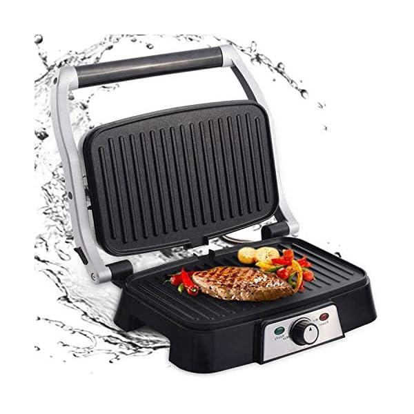 Aigostar Hitte 30HFA - Panini Maker/Griglia, Pressa a sandwich, Griglia elettrica, 1500 Watt, Fredda al tocco… 1