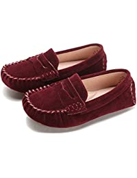 Little Kids Penny Loafers Flat Heel Slip On Toddlers Shoes For Boys & Girls Causal Comfortable