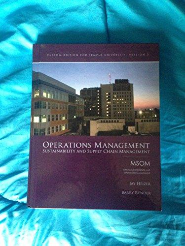 OPERATIONS MANAGEMENT >CUSTOM<