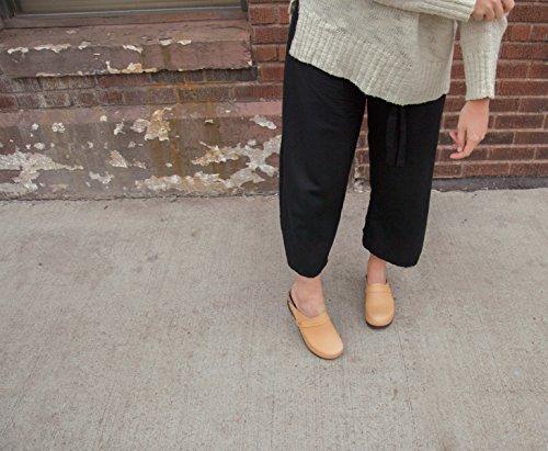 Sandgrens Swedish Low Heel Wooden Clog Mules for Women | Tokyo in Nude, size US 8 EU 38 by Sandgrens (Image #4)