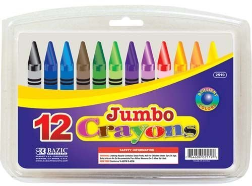 12 Color Premium Quality Jumbo Crayon 72 pcs sku# 1161229MA by DDI