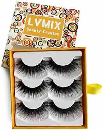 81c899245e3 LVMIX 3D False Eyelashes Fluffy Lashes Pack Long Fake Eyelashes Full  Reusable Faux Mink Eyelashes 3