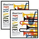 """Americanflat 2 Pack - Top Rated Album Frame - Display Album Covers 12.5""""x12.5"""" - Hanging Hardware Installed and No Assembly Required - Easy to Use Album Frame, Album Cover Frame"""